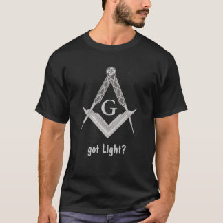 T-shirt Carré et boussole avec tout l'oeil voyant