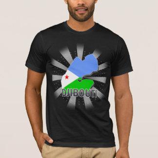T-shirt Carte 2,0 de drapeau de Djibouti