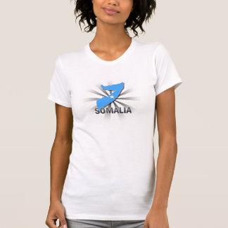 T-shirt Carte 2,0 de drapeau de la Somalie