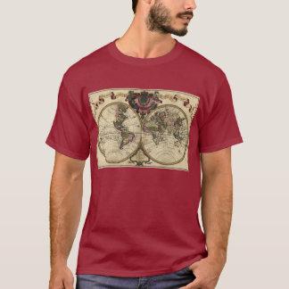 T-shirt Carte antique du monde par Guillaume de L'Isle,