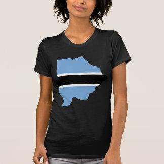 T-shirt Carte BW de drapeau du Botswana