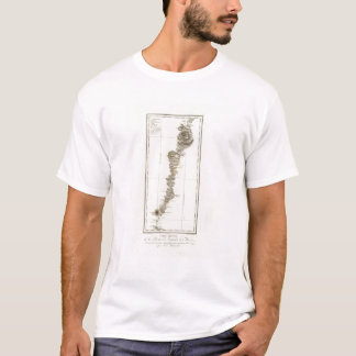 T-shirt Carte d'Acapulco vers Mexico