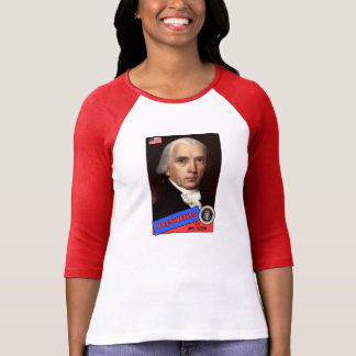 T-shirt Carte de base-ball de James Madison