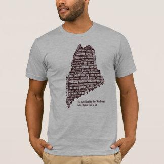 T-shirt Carte de bière du Maine