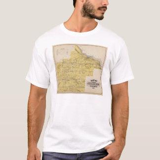 T-shirt Carte de comté de Goodhue, Minnesota