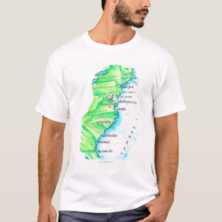 T-shirt Carte de Côte Est américaine