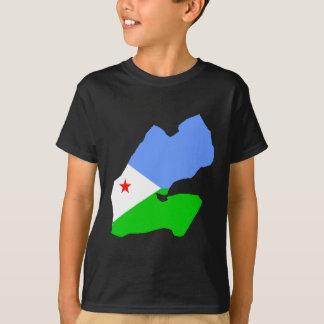 T-shirt Carte de drapeau de Djibouti