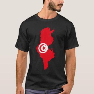 T-shirt Carte de drapeau de la Tunisie