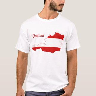 T-shirt Carte de drapeau de l'Autriche