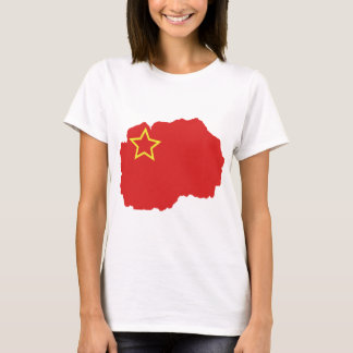 T-shirt Carte de drapeau de SR Macédoine