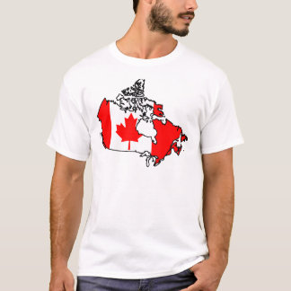 T-shirt carte de drapeau du Canada