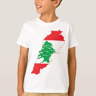 T-shirt Carte de drapeau du Liban de GROS CARACTÈRES