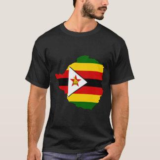 T-shirt Carte de drapeau du Zimbabwe