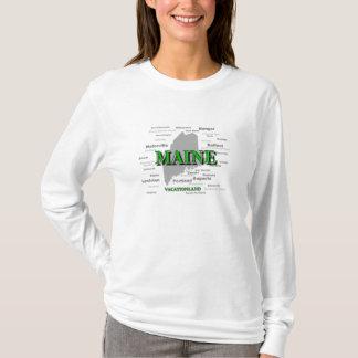 T-shirt Carte de fierté d'état de villes et de villes du