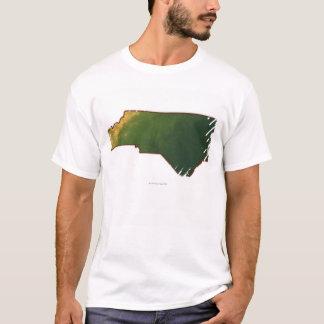 T-shirt Carte de la Caroline du Nord 2