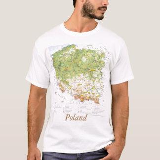 T-shirt Carte de la Pologne
