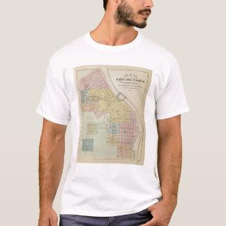 T-shirt Carte de la ville du nuage de St, Minnesota