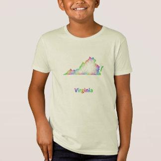 T-Shirt Carte de la Virginie d'arc-en-ciel