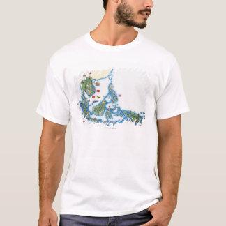 T-shirt Carte de l'Asie du sud-est