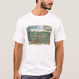 """T-shirt Carte de Linz, de """"Civitates Orbis Terrarum"""" par"""