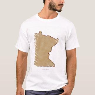T-shirt Carte de soulagement du Minnesota
