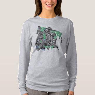 T-shirt Carte de typographie de Bronx New York City