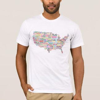 T-shirt Carte de ville des Etats-Unis