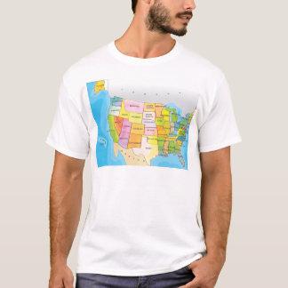 T-shirt Carte des états des Etats-Unis