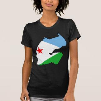 T-shirt Carte DJ de drapeau de Djibouti