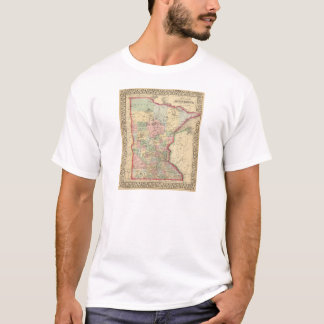 T-shirt Carte du Minnesota par Mitchell