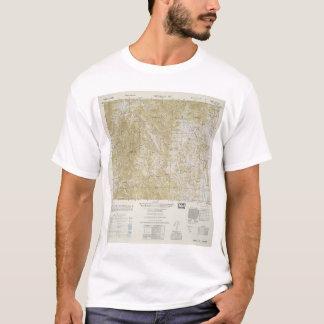 T-shirt Carte topographique de la Corée du Sud du nord et