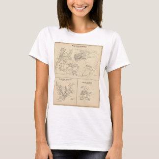T-shirt Carte vintage de Spofford et de Chesterfield NH