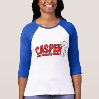 T-shirt Casper le logo rouge 2 de fantôme amical