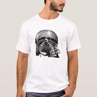 T-shirt Casque de pilote d'avion de chasse avec le