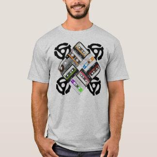 T-shirt Cassettes et adaptateur de 45 t/mn
