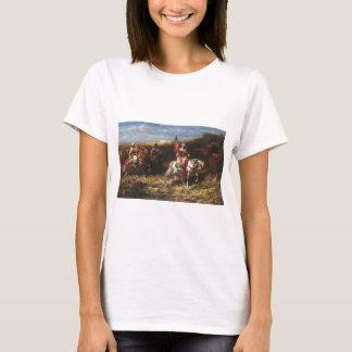 T-shirt Cavalier arabe d'Adolf Schreyer dans un paysage