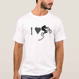 T-shirt Cavalier de vélo de cascade d'ILove