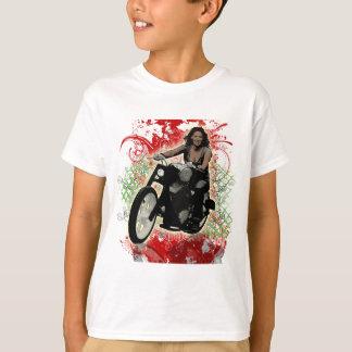 T-shirt Cavalier féminin de moto