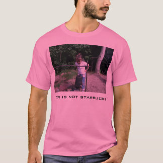 T-shirt Ce n'est pas Starbucks, petite diva
