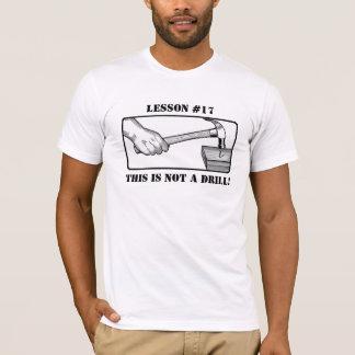 T-shirt Ce n'est pas un foret - main, marteau, clou