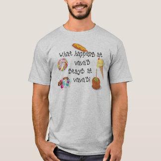 T-shirt Ce qui se produit aux SÉJOURS de Vava chez Vava !