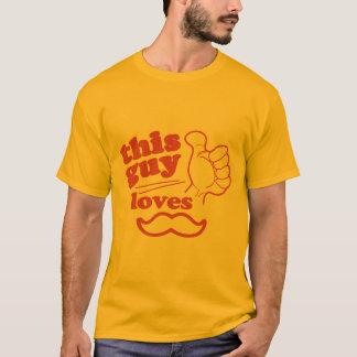 T-shirt Ce type aime la moustache