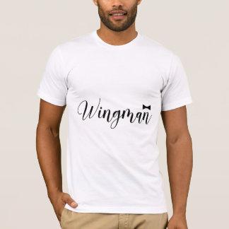 T-shirt Célibataire de mariage de Bowtie de Wingman