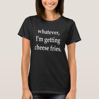 T-shirt celui que j'obtienne à des fritures de fromage