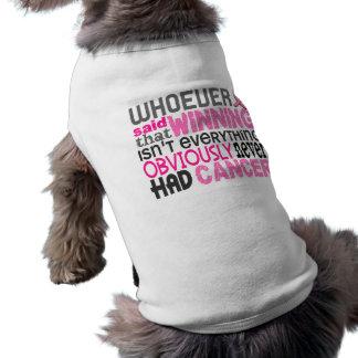 T-shirt Celui qui a dit le cancer du sein