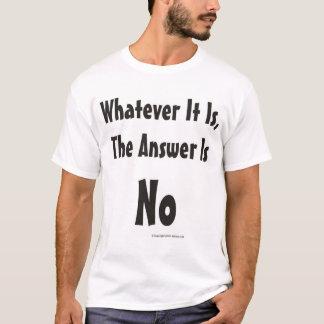 T-shirt Celui qui il soit, la réponse est aucune