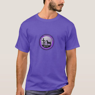 T-shirt Centre équestre de Keith. T-shirt. Logo pourpre