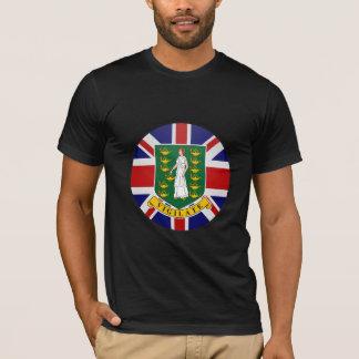 T-shirt Cercle de drapeau de qualité des Îles Vierges