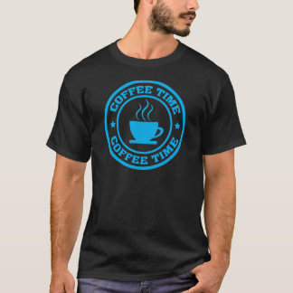 T-shirt Cercle de temps du café A251 bleu-clair