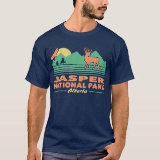 T-shirt Cerfs communs de mule de parc national de jaspe